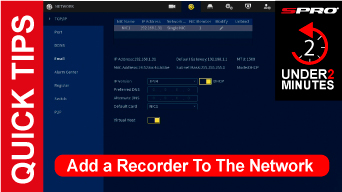SPRO How To Add a Recorder To The Network